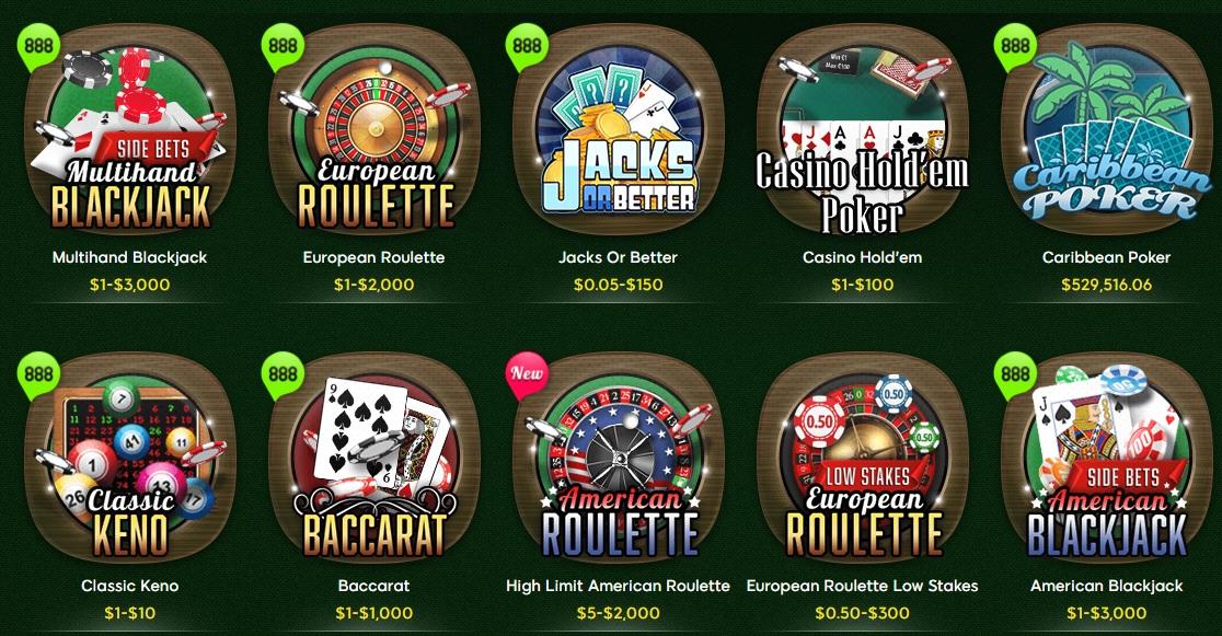 888 Casino Games Free